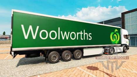 Скин Woolworths на полуприцепы для Euro Truck Simulator 2