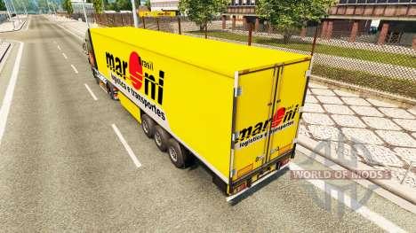 Скин Maroni Transportes на полуприцепы для Euro Truck Simulator 2