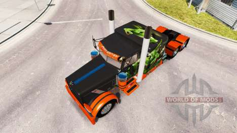 Скин Snake v2.0 на тягач Peterbilt 389 для American Truck Simulator