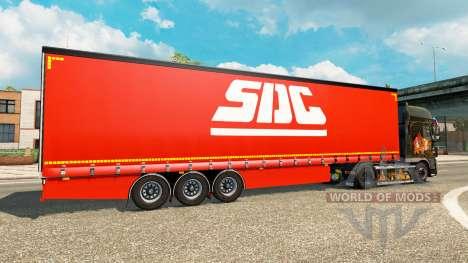 Шторный полуприцеп SDC v2.0 для Euro Truck Simulator 2