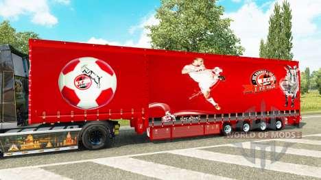 Шторный полуприцеп Krone 1. FC Koln для Euro Truck Simulator 2