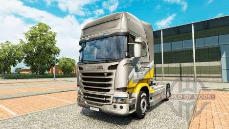 Скин Maroni Transport на тягач Scania для Euro Truck Simulator 2