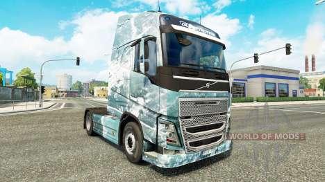 Скин Ice Road на тягач Volvo для Euro Truck Simulator 2