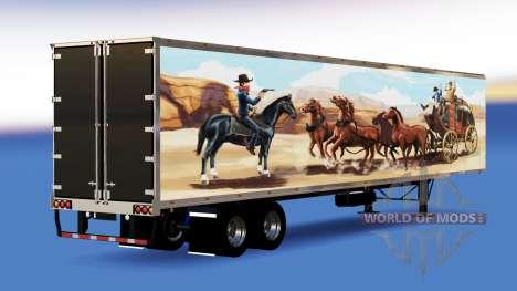 Цельнометаллический полуприцеп The Bandit для American Truck Simulator