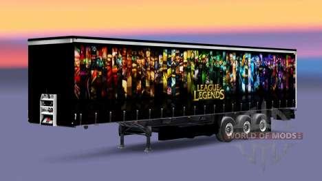 Скин League of Legends на полуприцеп для Euro Truck Simulator 2