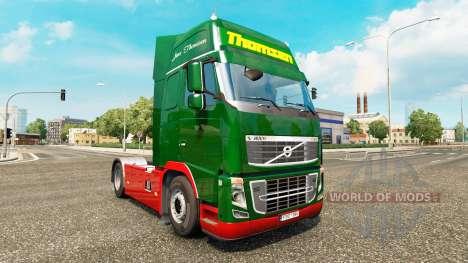 Скин Thomsen на тягач Volvo для Euro Truck Simulator 2