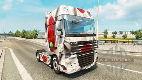 Скин Japao Copa 2014 на тягач DAF для Euro Truck Simulator 2
