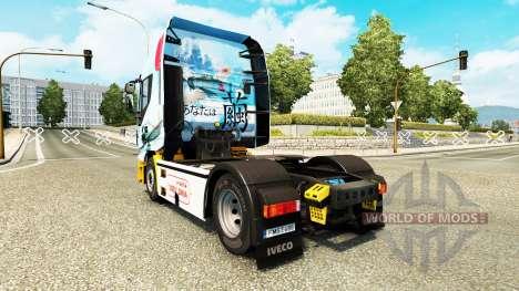 Скин Mitsubishi A6M2 Zero на тягач Iveco для Euro Truck Simulator 2