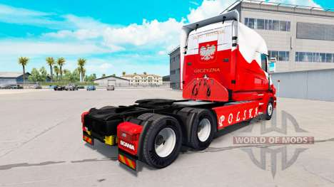 Скин Airbrash Polska на тягач Scania T для American Truck Simulator
