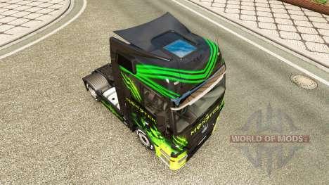 Скин Monster на тягач Mercedes-Benz для Euro Truck Simulator 2