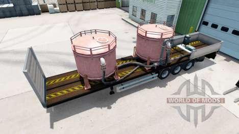 Бортовой полуприцеп Kogel с различными грузами для American Truck Simulator