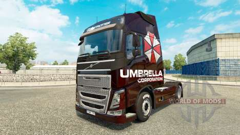 Скин Umbrella Corporation на тягач Volvo для Euro Truck Simulator 2