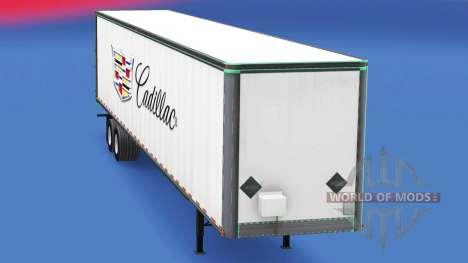 Скин Cadillac на цельнометаллический полуприцеп для American Truck Simulator
