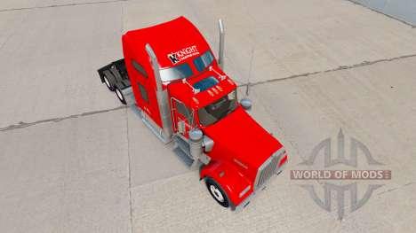Скин Knight Transportation на Kenworth W900 для American Truck Simulator