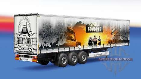 Скин Asphalt Cowboys на полуприцеп для Euro Truck Simulator 2