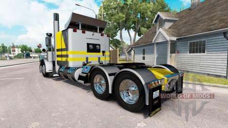 Скин Silvery-yellow metallic на Peterbilt 389 для American Truck Simulator