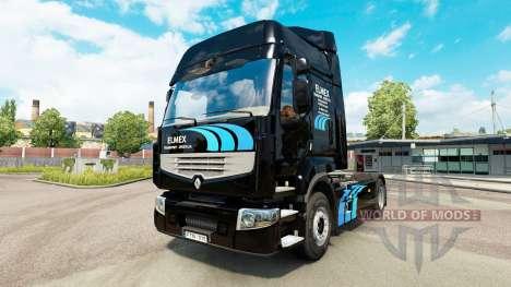 Скин ELMEX на тягач Renault для Euro Truck Simulator 2