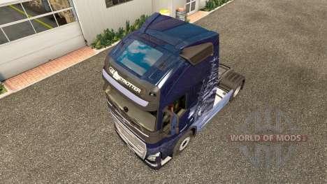 Скин Winter Wolves на тягач Volvo для Euro Truck Simulator 2