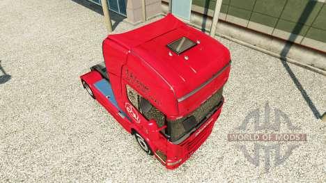 Скин 1. FC Nurnberg на тягач Scania для Euro Truck Simulator 2