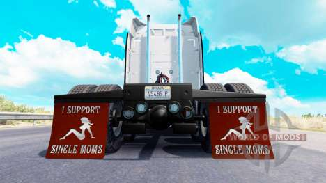 Брызговики I Support Single Moms v1.7 для American Truck Simulator