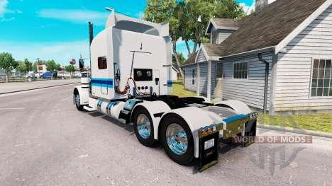 Скин Con-way Freight на тягач Peterbilt 389 для American Truck Simulator