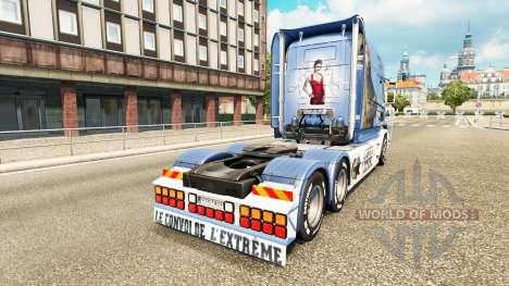 Скин Lisa Convoy на тягач Scania T для Euro Truck Simulator 2
