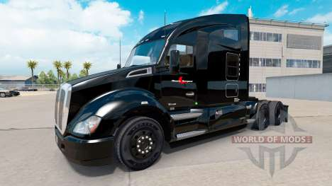 Скин Stevens Transport на тягач Kenworth для American Truck Simulator