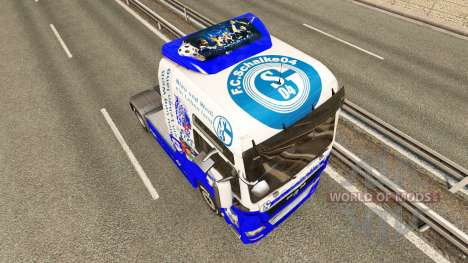 Скин FC Schalke 04 на тягач MAN для Euro Truck Simulator 2