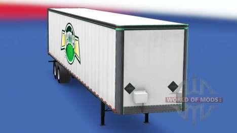 Скин Perrier на цельнометаллический полуприцеп для American Truck Simulator