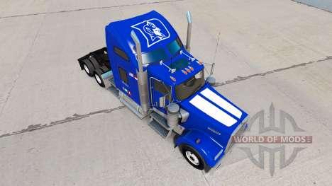 Скин Duke v1.03 на тягач Kenworth W900 для American Truck Simulator