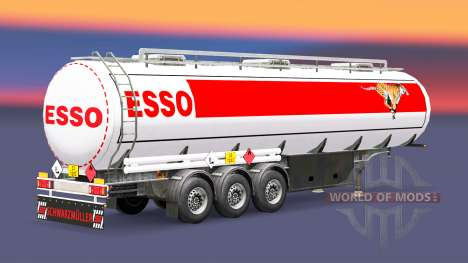 Топливный полуприцеп ESSO для Euro Truck Simulator 2