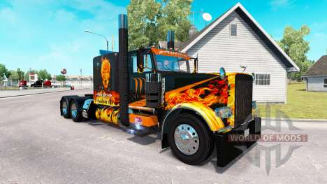 Скин Underworld на тягач Peterbilt 389 для American Truck Simulator