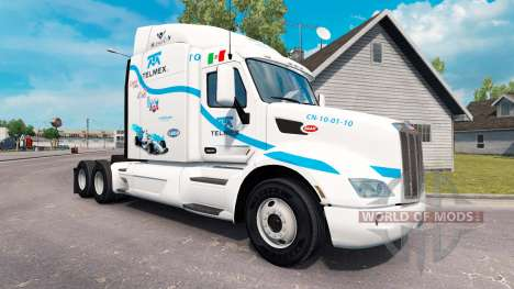 Скин Telmex на тягач Peterbilt для American Truck Simulator