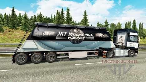 Скин JKT International на полуприцеп-цементовоз для Euro Truck Simulator 2