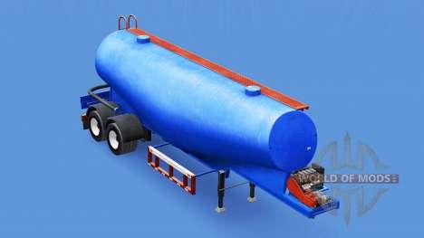 Синий окрас для цементного полуприцепа для American Truck Simulator