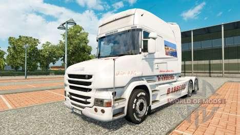 Скин BARBERO на тягач Scania T для Euro Truck Simulator 2