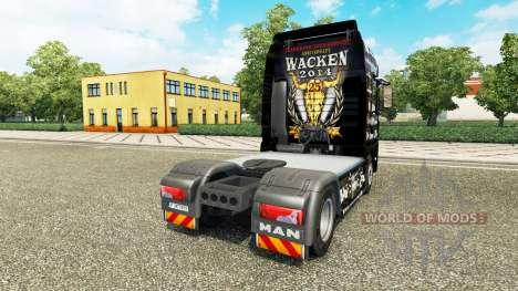 Скин 25 Jahre Wacken на тягач MAN для Euro Truck Simulator 2