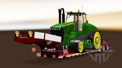 Низкорамный трал Doll с различными грузами для American Truck Simulator