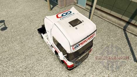 Скин Coopercarga Logistica на тягач Scania для Euro Truck Simulator 2