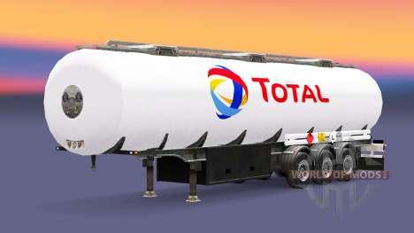 Топливный полуприцеп Total для Euro Truck Simulator 2