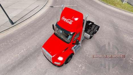 Скин Coca-Cola на тягач Peterbilt для American Truck Simulator