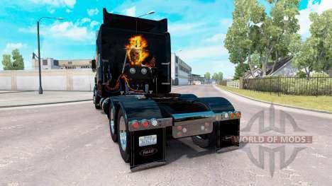 Скин Ghost Rider на тягач Peterbilt 389 для American Truck Simulator