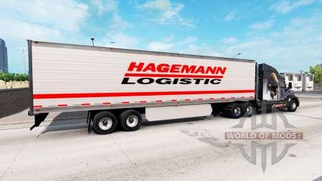 Полуприцепы с реальными логотипами v1.0.1 для American Truck Simulator