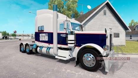 Скин National Guard на тягач Peterbilt 389 для American Truck Simulator