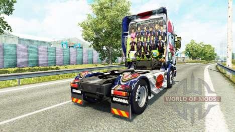 Скин Japao Copa 2014 на тягач Scania для Euro Truck Simulator 2
