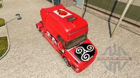 Скин EAG на тягач Scania T для Euro Truck Simulator 2