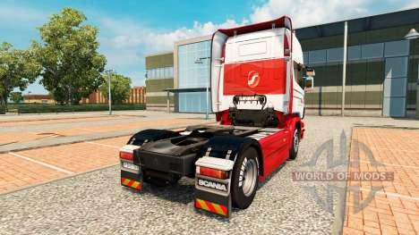 Скин JSL на тягач Scania для Euro Truck Simulator 2