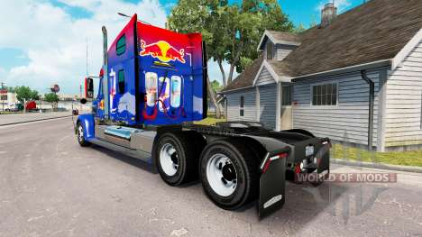 Скин Red Bull на тягач Freightliner Coronado для American Truck Simulator