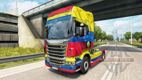Скин Colombia Copa 2014 на тягач Scania для Euro Truck Simulator 2