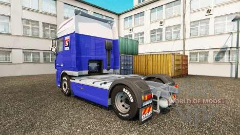Скин P.Solleveld Transport на тягач DAF для Euro Truck Simulator 2